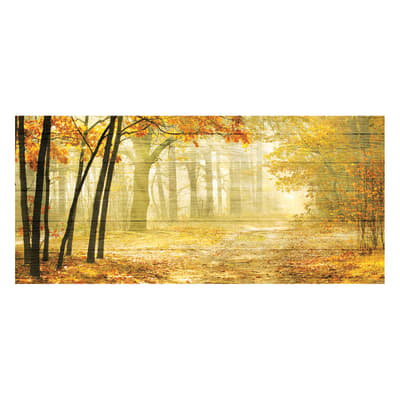 Quadro in legno Deep autumn 50x110 cm