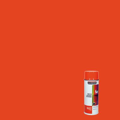 Smalto spray LUXENS Deco arancio puro lucido 0.0075 L