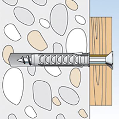 Tassello per materiale forato FISCHER SX L 30 mm x Ø 6 mm 50 pezzi