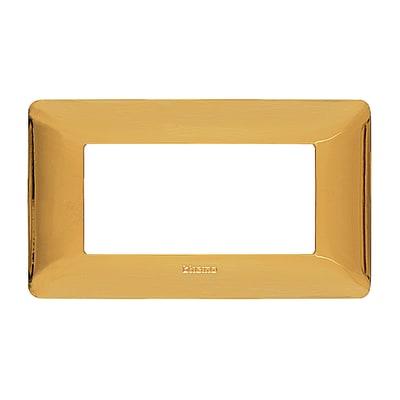 Placca BTICINO Matix 4 moduli oro lucido