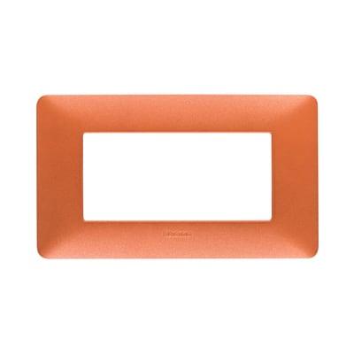 Placca BTICINO Matix 4 moduli rosso terra