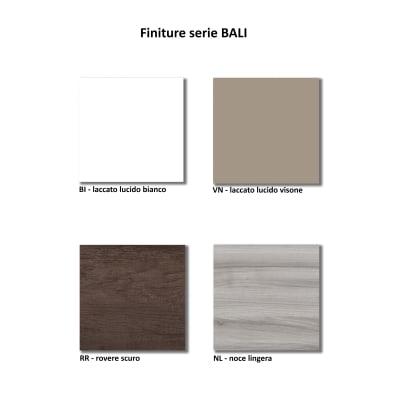 Pensile Bali 1 L 30 x P 17 x H 60 cm lucido bianco laccato