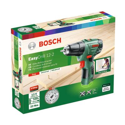 Trapano avvitatore a batteria BOSCH Easydrill 12-2, 12 V1.5 Ah, senza batteria