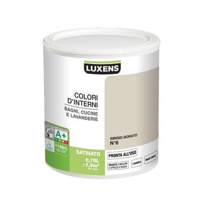 Smalto murale LUXENS 0.75 L grigio dorato 6