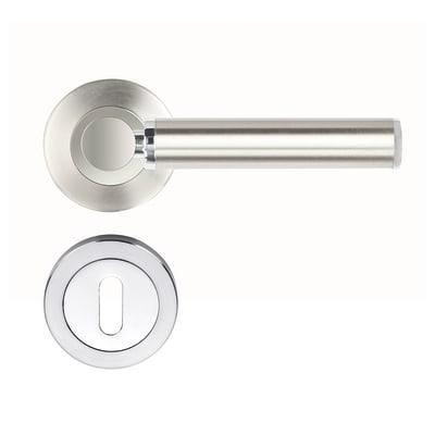 Maniglia con rosetta e bocchetta INSPIRE Albane in acciaio inossidabile spazzolato