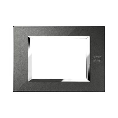 Placca SIMON URMET Nea Expì 3 moduli nero grafite
