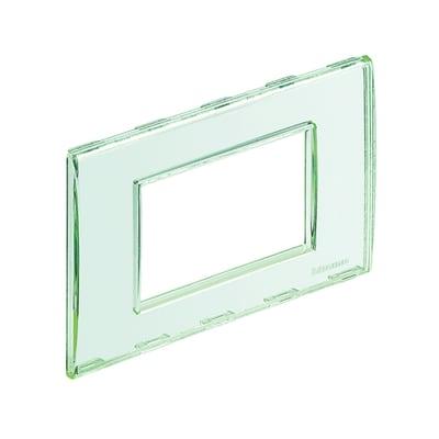 Placca BTICINO Living light 3 moduli trasparente personalizzabile