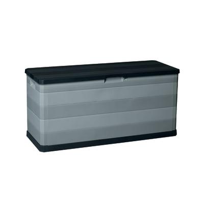 Baule Elegance L 117 x H 56 x P 45 cm nero e grigio