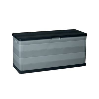 Cassone L 117 x H 56 x P 45 cm nero e grigio