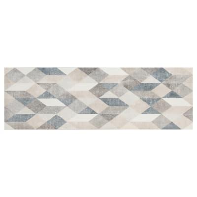 Piastrella per rivestimenti Atelier Origami 25 x 76 cm sp. 10 mm grigio e bianco