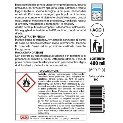 Gas compresso per la pulizia 400 ml