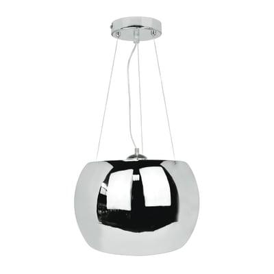 Lampadario Moderno Sliema cromo in metallo, D. 40.0 cm, 3 luci, INSPIRE