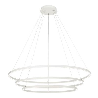 Lampadario Moderno Anilo LED integrato bianco, in metallo, D. 120 cm, 3 luci, BRILLIANT