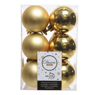 Sfera natalizia in plastica Ø 6 cm confezione da 12 pezzi