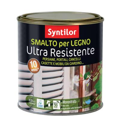 Smalto per legno da esterno base acqua SYNTILOR rosso 0.5 L
