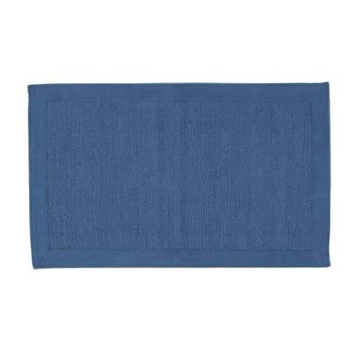 Tappeto Cucina Cotone unito blu 110x50 cm