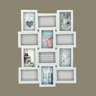 Cornice Multifoto Shabby Bianco 12 Foto Prezzi E Offerte