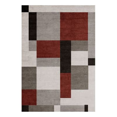 Tappeto per interno Soave Soft grigio e rosso 200x170 cm