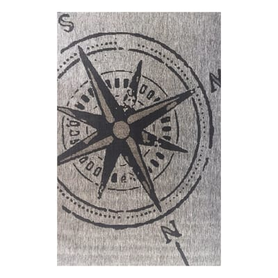 Tappeto Naturale Bussola173 DM9H grigio 230x160 cm