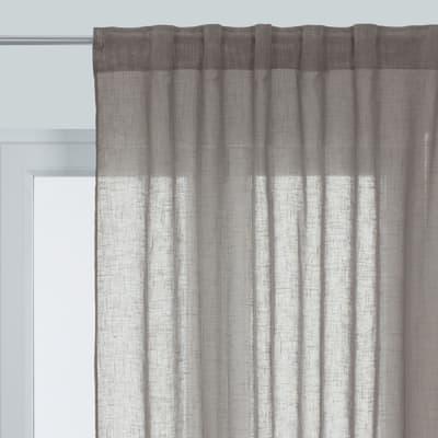 Tenda Aspect lin grigio passanti nascosti 145x300 cm