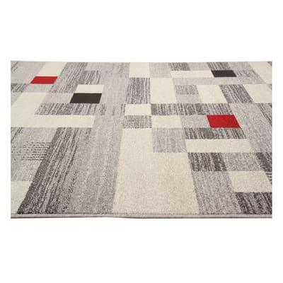 Tappeto Casa e grigio e rosso 120x60 cm