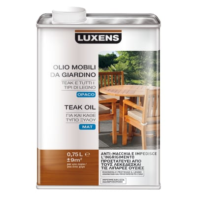 Finitura ad olio penetrante LUXENS Mobili da giardino trasparente 0.75 L