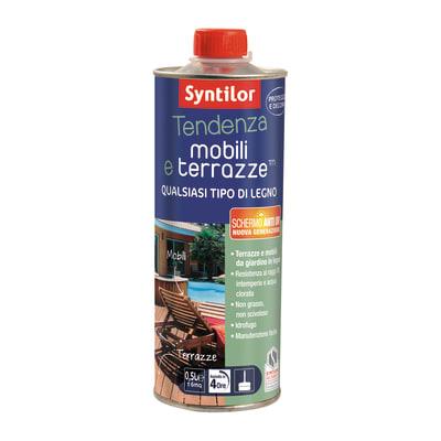 Vernice per legno da esterno liquido SYNTILOR Tendenza 0.5 L testa di moro