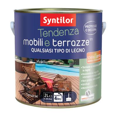 Vernice per legno da esterno liquido SYNTILOR Tendenza 2 L testa di moro