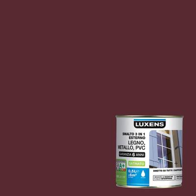 Smalto LUXENS base acqua rosso mattone 0.5 L