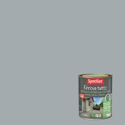 Smalto per legno da esterno base acqua SYNTILOR Rinnova Tutto grigio chiaro 0.75 L
