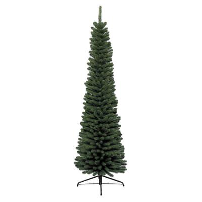 Albero di natale artificiale Slim verde H 210 cm