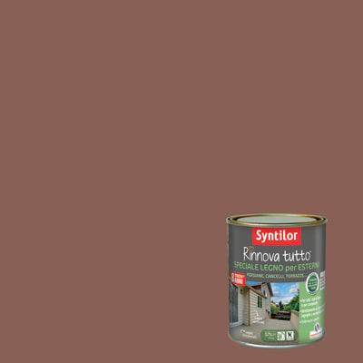 Smalto per legno da esterno base acqua SYNTILOR Rinnova Tutto marrone terracotta 2.5 L