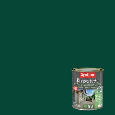 Vernice e smalto da esterno per legno base acqua SYNTILOR Rinnova Tutto verde 2.5 L