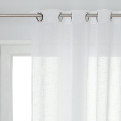 Tenda Carla bianco occhielli 140x280 cm