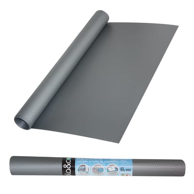 Tappetino frigorifero grigio / argento 50 x 150 cm