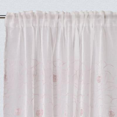 Tenda Cecilia rosa passanti nascosti 300x140 cm