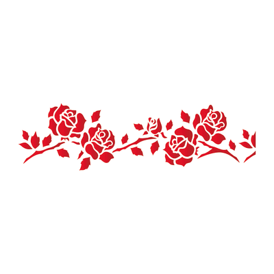 Stencil tema frutti e fiori LES DECORATIVES Rose 40.0 x 0.1 cm