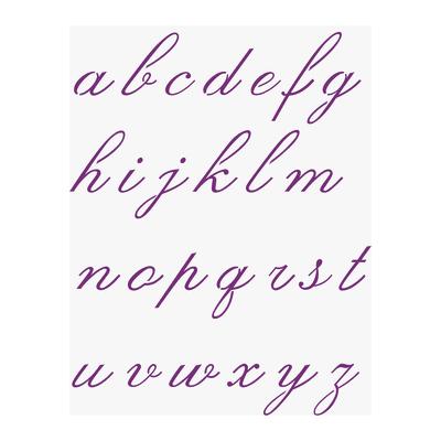 Stencil tema lettere, parole e numeri LES DECORATIVES Componibile alfabeto 38 x 0.1 cm