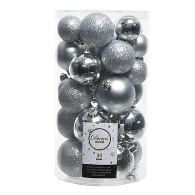 Sfera natalizia in plastica confezione da 30 pezzi