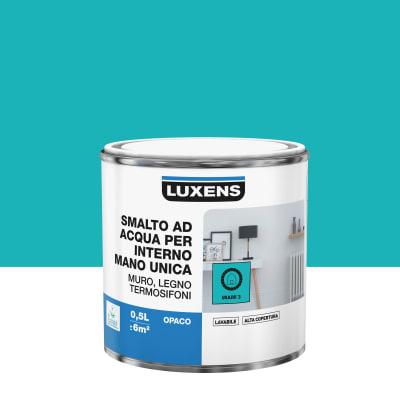 Vernice di finitura LUXENS Manounica base acqua blu miami 3 opaco 0.5 L