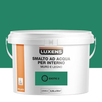Smalto LUXENS base acqua verde esotico 2 lucido 2.5 L
