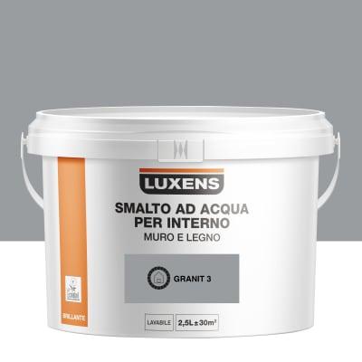 Smalto LUXENS base acqua grigio granito 3 lucido 2.5 L