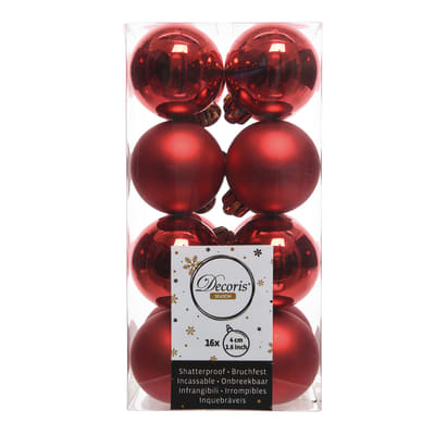 Sfera natalizia in plastica Ø 4 cm confezione da 16 pezzi