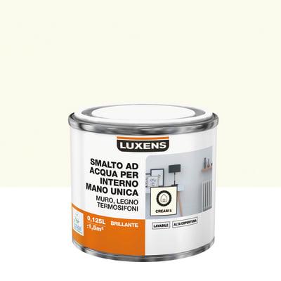 Vernice di finitura LUXENS Manounica base acqua bianco crema 5 lucido 0.125 L