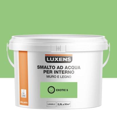 Smalto LUXENS base acqua verde esotico 5 lucido 2.5 L