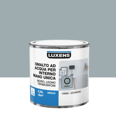 Smalto LUXENS base acqua grigio parigi 5 opaco 0.5 L