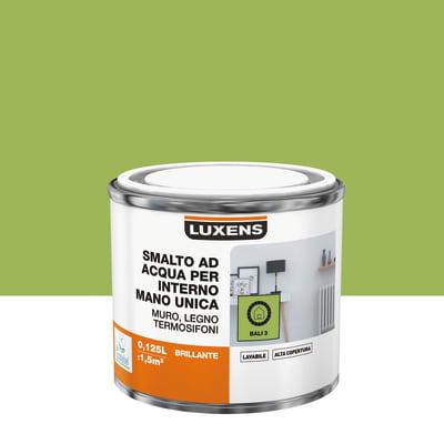 Vernice di finitura LUXENS Manounica base acqua verde bali 3 lucido 0,125 L