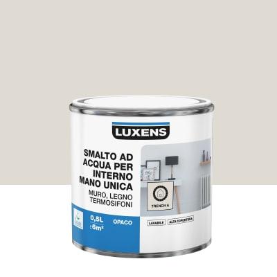 Vernice di finitura LUXENS Manounica base acqua marrone trench 6 opaco 0.5 L