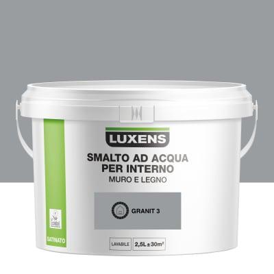 Vernice di finitura LUXENS Bimano base acqua grigio granito 3 satinato 2.5 L