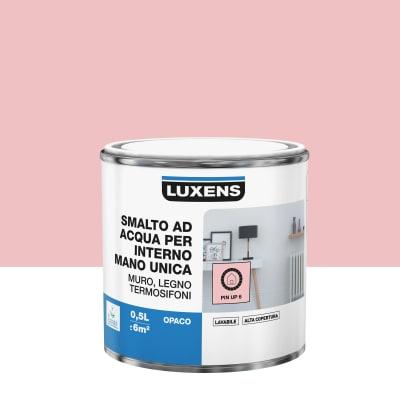 Smalto LUXENS base acqua rosa pinup 6 opaco 0.5 L
